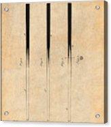 1879 Billiard Cue Antique Paper Patent Print Acrylic Print