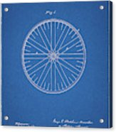 1885 Bicycle Wheel Patent Acrylic Print