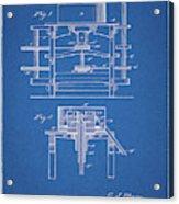 1885 Grist Mill Patent Acrylic Print