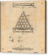 1891 Billiard Ball Rack Patent Print Antique Paper Acrylic Print