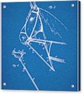 1891 Horse Harness Attachment Patent Print Blueprint Acrylic Print