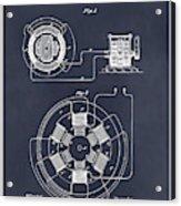 1896 Tesla Alternating Motor Blackboard Patent Print Acrylic Print