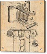 1899 Photographic Camera Patent Print Antique Paper Acrylic Print
