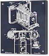 1899 Photographic Camera Patent Print Blackboard Acrylic Print