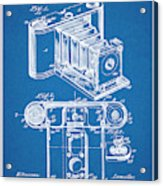 1899 Photographic Camera Patent Print Blueprint Acrylic Print