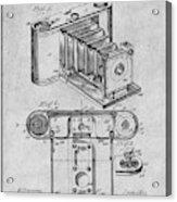 1899 Photographic Camera Patent Print Gray Acrylic Print