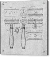 1901 Gillette Safety Razor Gray Patent Print Acrylic Print