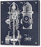 1903 Fire Hydrant Blackboard Patent Print Acrylic Print