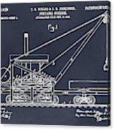 1903 Railroad Derrick Blackboard Patent Print Acrylic Print