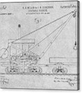 1903 Railroad Derrick Gray Patent Print Acrylic Print
