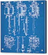 1904 Wagner Tattoo Machine Blueprint Patent Print Acrylic Print