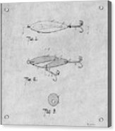 1909 Lockhart Antique Fishing Lure Gray Patent Print Acrylic Print
