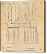 1914 Hockey Gloves Antique Paper Patent Print Acrylic Print