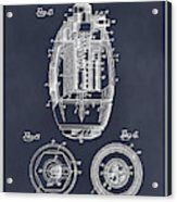 1917 Hand Grenade Blackboard Patent Print Acrylic Print