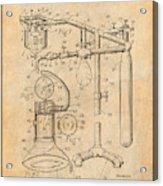 1919 Anesthetic Machine Antique Paper Patent Print Acrylic Print