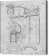 1919 Anesthetic Machine Gray Patent Print Acrylic Print