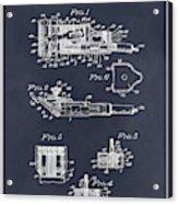 1919 Motor Driven Hair Clipper Blackboard Patent Print Acrylic Print