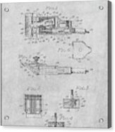 1919 Motor Driven Hair Clipper Gray Patent Print Acrylic Print