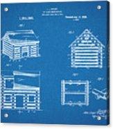 1920 Lincoln Logs Blueprint Patent Print Acrylic Print