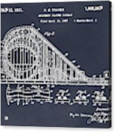 1927 Roller Coaster Blackboard Patent Print Acrylic Print