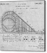 1927 Roller Coaster Gray Patent Print Acrylic Print