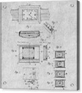 1930 Leon Hatot Self Winding Watch Patent Print Gray Acrylic Print