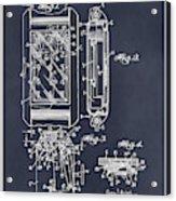 1931 Self Winding Watch Patent Print Blackboard Acrylic Print