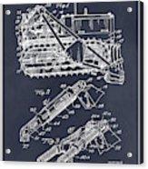 1932 Earth Moving Bulldozer Blackboard Patent Print Acrylic Print