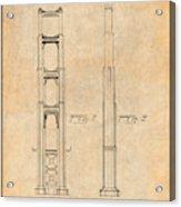 1932 San Francisco Golden Gate Bridge Antique Paper Patent Print Acrylic Print