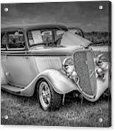 1933 Ford Tudor Sedan With Trailer Acrylic Print