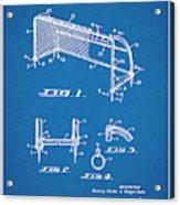 1933 Soccer Goal Blueprint Patent Print Acrylic Print