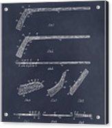 1934 Hockey Stick Patent Print Blackboard Acrylic Print