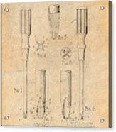 1935 Phillips Screw Driver Antique Paper Patent Print Acrylic Print