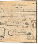 1935 Union Pacific M-10000 Railroad Antique Paper Patent Print Acrylic Print