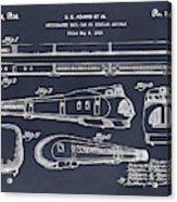 1935 Union Pacific M-10000 Railroad Blackboard Patent Print Acrylic Print