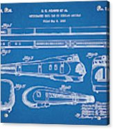 1935 Union Pacific M-10000 Railroad Blueprint Patent Print Acrylic Print