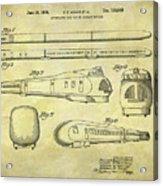 1935 Union Pacific Train Patent Acrylic Print