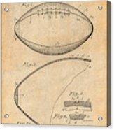 1936 Reach Football Antique Paper Patent Print Acrylic Print