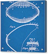 1936 Reach Football Blueprint Patent Print Acrylic Print