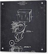 1936 Toilet Bowl - Dark Charcoal Grunge Acrylic Print