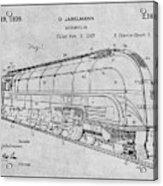 1937 Jabelmann Locomotive Gray Patent Print Acrylic Print