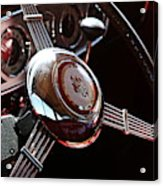 1937 Vintage Model 1508 Steering Wheel Acrylic Print