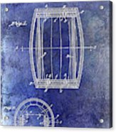 1937 Whiskey Barrel Patent Acrylic Print