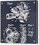 1938 Bell And Howell Movie Camera Patent Print Blackboard Acrylic Print