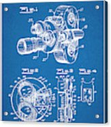 1938 Bell And Howell Movie Camera Patent Print Blueprint Acrylic Print