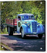 1938 Diamond T Stakebed Truck Acrylic Print