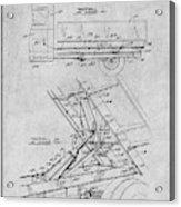 1939 Dump Truck Gray Patent Print Acrylic Print