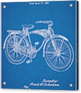 1939 Schwinn Bicycle Blueprint Patent Print Acrylic Print