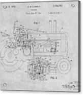 1942 John Deere Tractor Gray Patent Print Acrylic Print