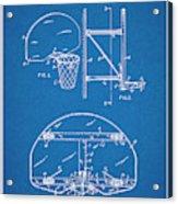 1944 Basketball Goal Blueprint Patent Print Acrylic Print